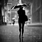 silhouette in the rain by Danny Santos II
