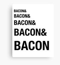 Funny Bacon Ampersands Shirt Humor Nerdy Canvas Print