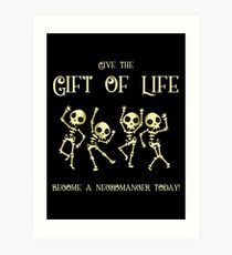 Lámina artística Da el regalo de la vida Conviértete en un nigromante hoy
