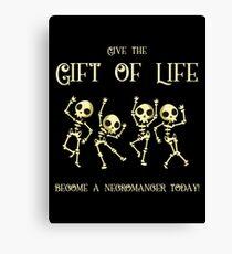 Lienzo Da el regalo de la vida Conviértete en un nigromante hoy