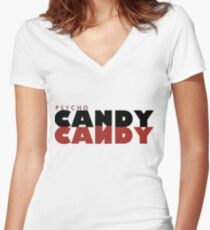 Psycho Candy Women's Fitted V-Neck T-Shirt