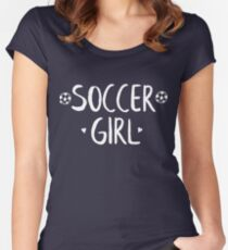 Soccer Girl Women's Fitted Scoop T-Shirt
