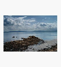 A view of County Clare from Galway Bay Photographic Print
