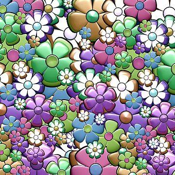 Retro flower pattern by dutchstranger
