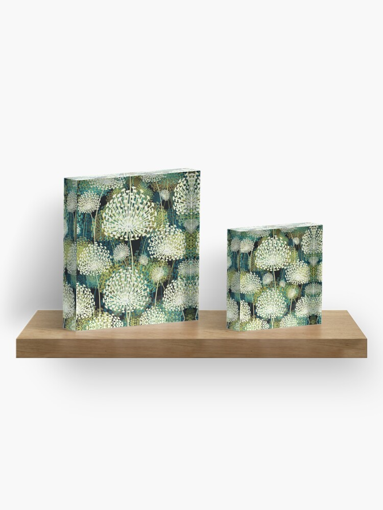 Alternate view of Dandelions Acrylic Block