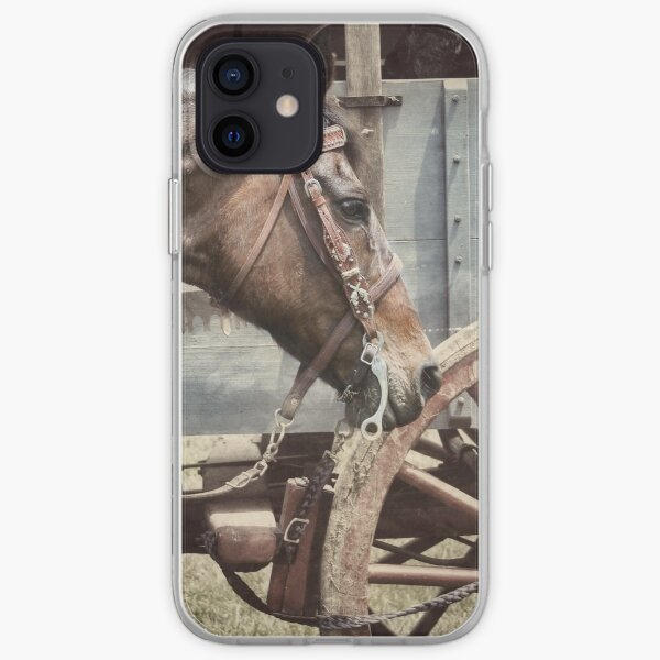 Horse and Wheel  iPhone Soft Case