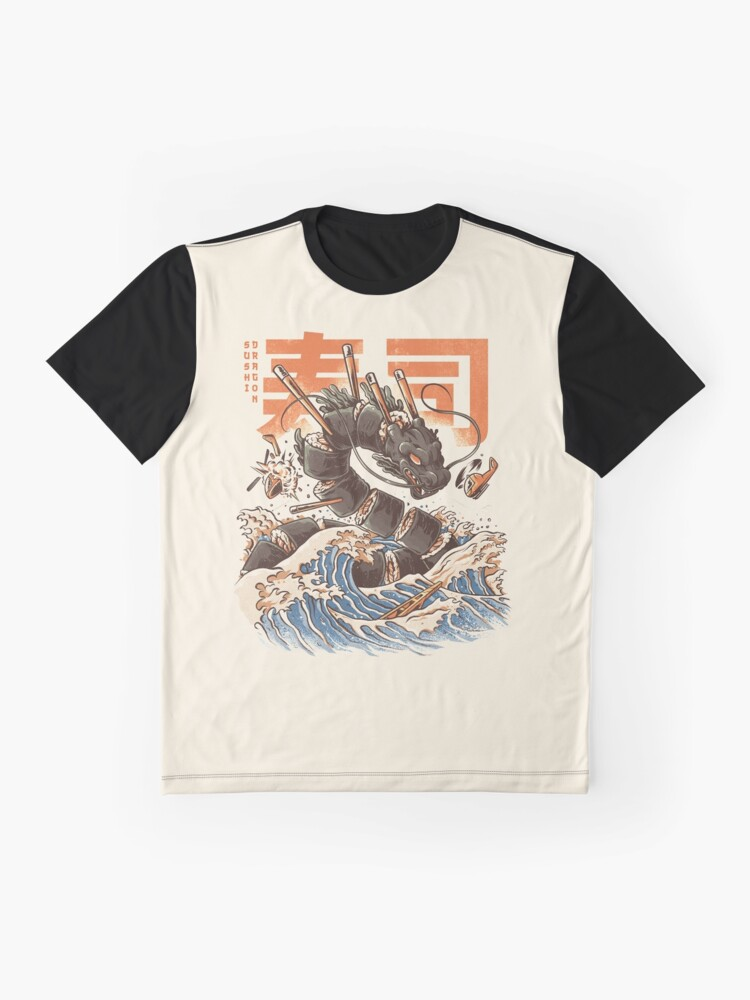 Alternate view of Great Sushi Dragon  Graphic T-Shirt