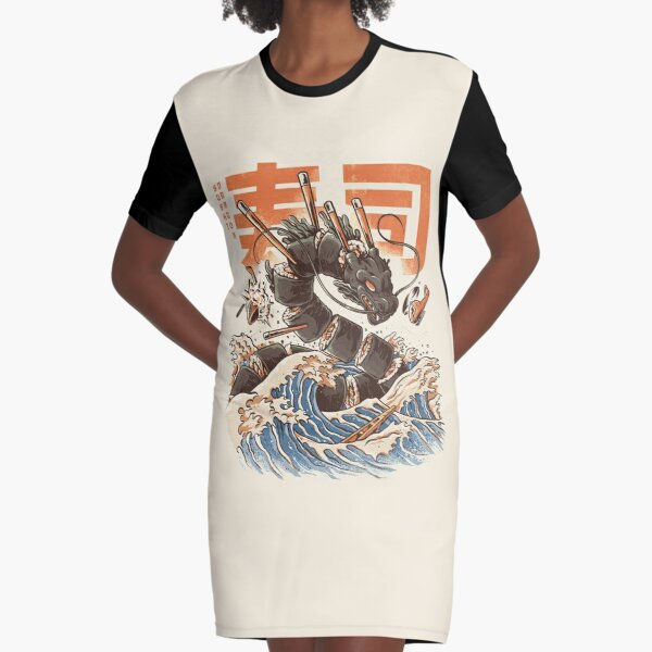 Great Sushi Dragon  Graphic T-Shirt Dress