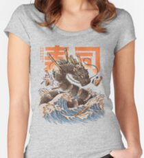 Great Sushi Dragon  Fitted Scoop T-Shirt