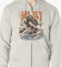 Great Sushi Dragon  Zipped Hoodie