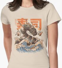 Great Sushi Dragon  Fitted T-Shirt