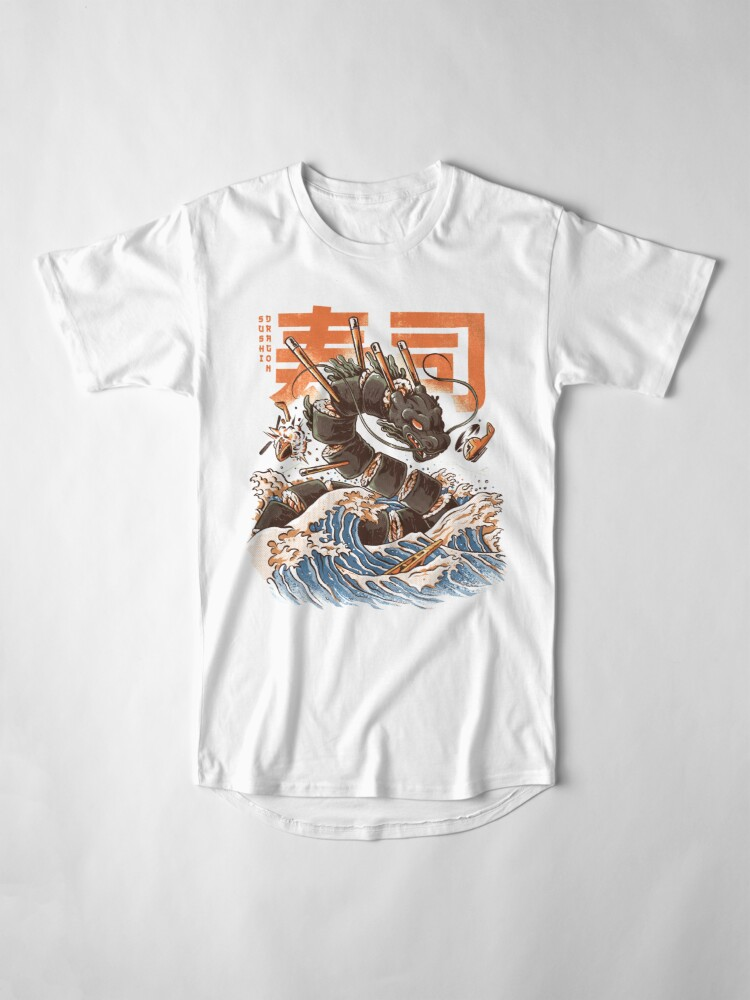 Alternate view of Great Sushi Dragon  Long T-Shirt