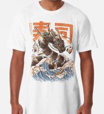 Großer Sushi-Drache Longshirt