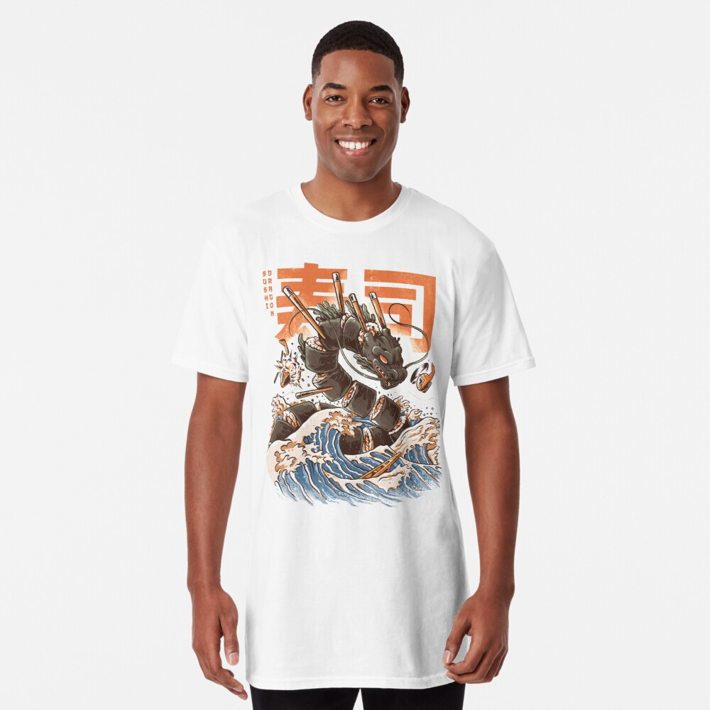 Great Sushi Dragon  Long T-Shirt
