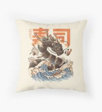 Great Sushi Dragon  Throw Pillow