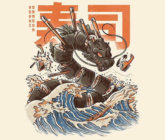 Great Sushi Dragon  by Ilustrata Design
