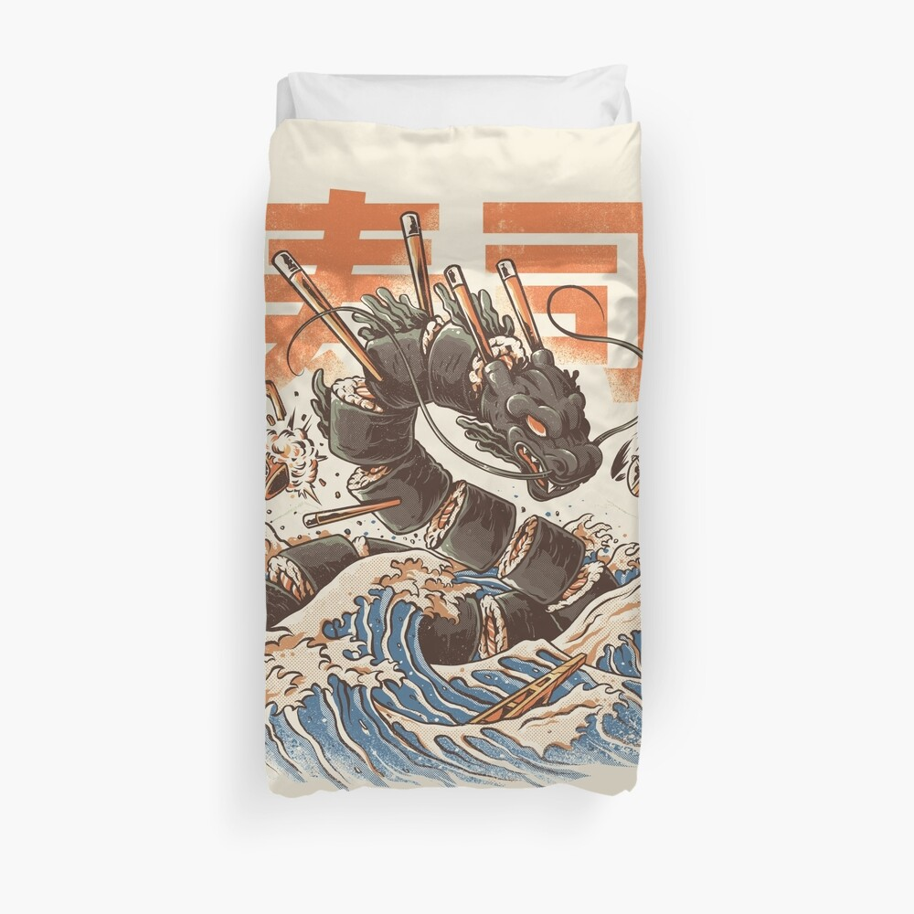 Great Sushi Dragon  Duvet Cover