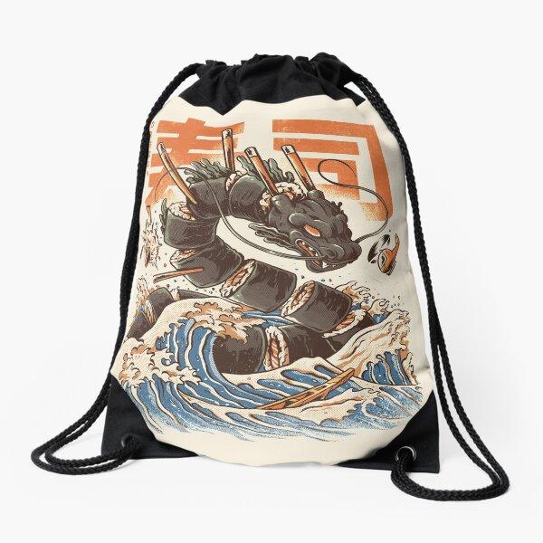 Great Sushi Dragon  Drawstring Bag