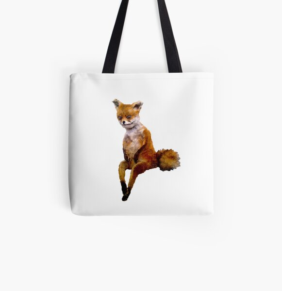 Stoned fox the Taxidermy Fox Meme All Over Print Tote Bag