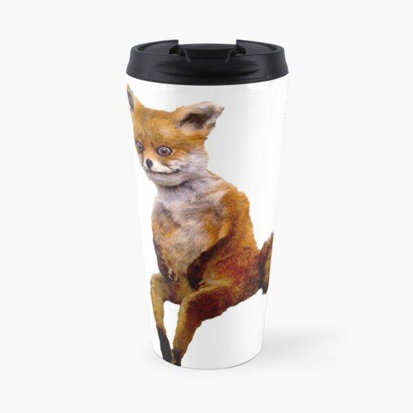 Stoned fox the Taxidermy Fox Meme Travel Mug