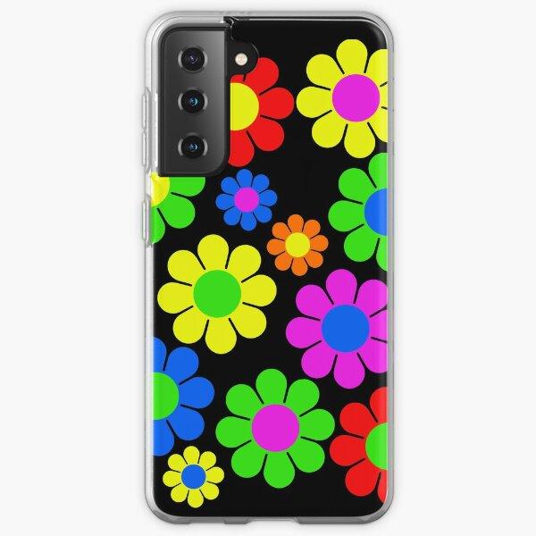 Hippy Flower Daisy Spring Pattern Samsung Galaxy Soft Case