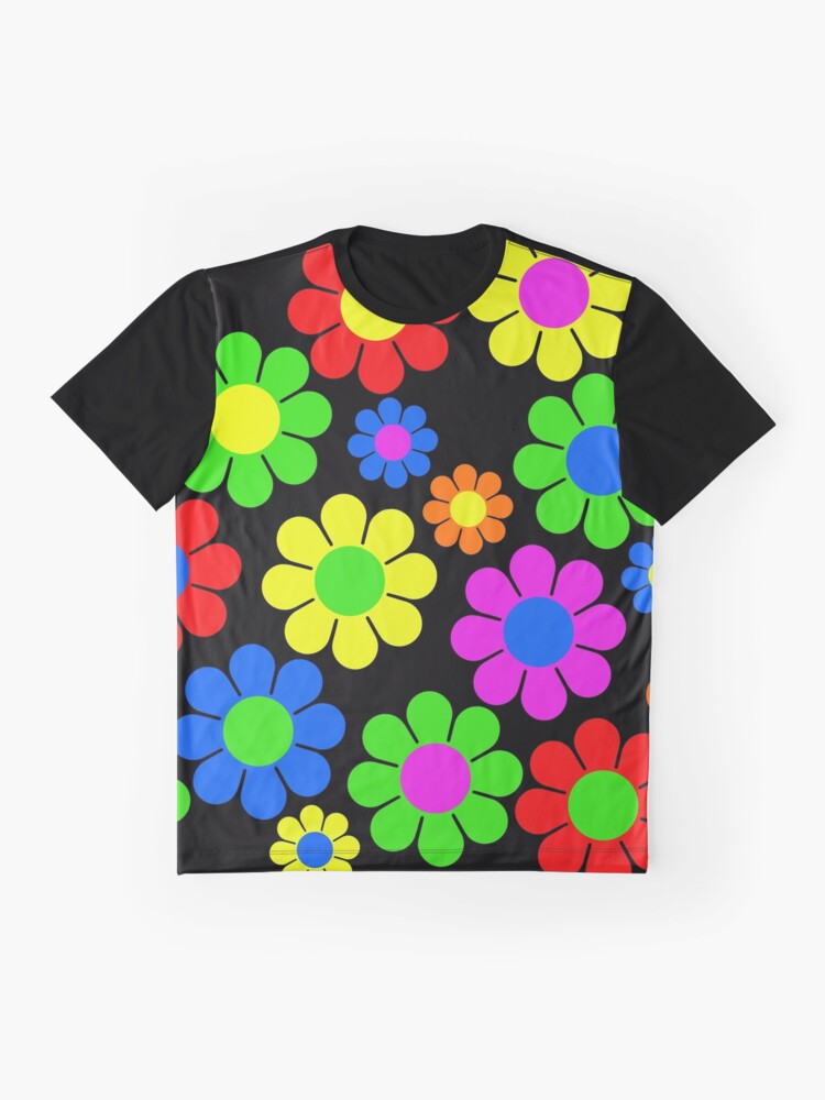 Alternate view of Hippy Flower Daisy Spring Pattern Graphic T-Shirt