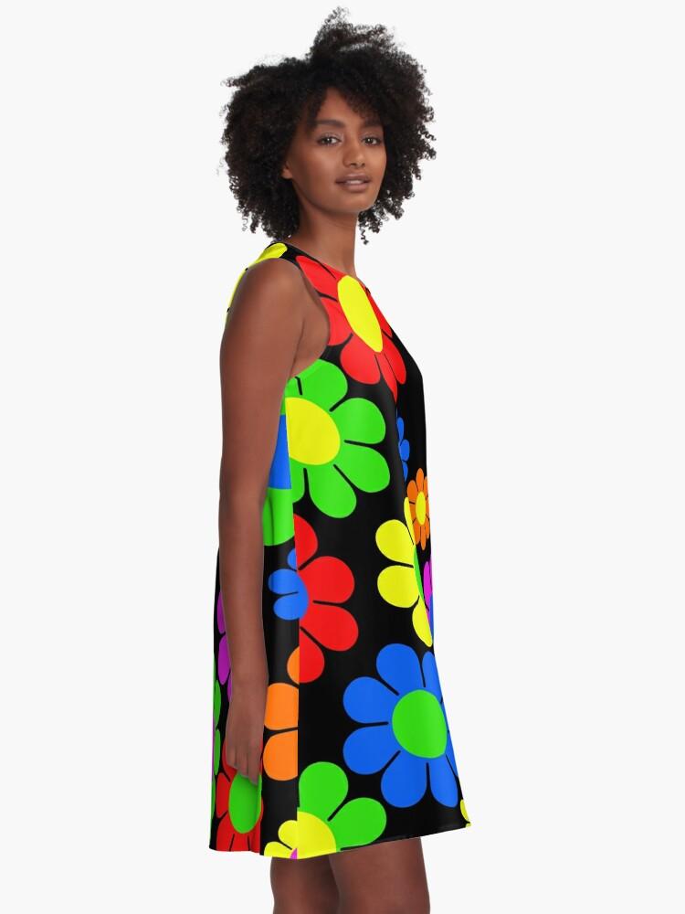 Alternate view of Hippy Flower Daisy Spring Pattern A-Line Dress