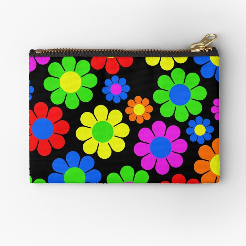Hippy Flower Daisy Spring Pattern Zipper Pouch