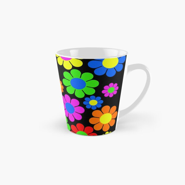 Hippy Flower Daisy Spring Pattern Tall Mug