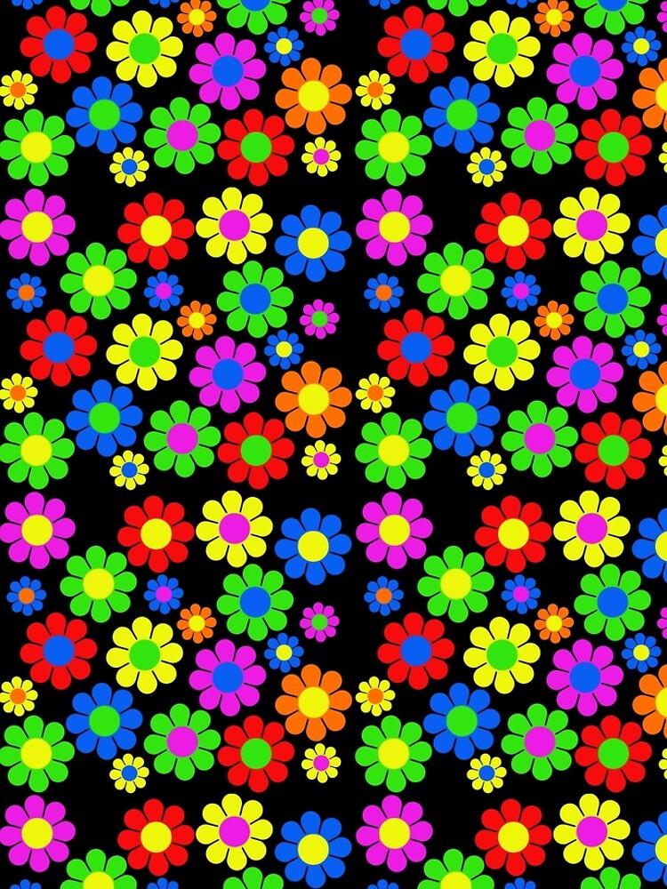 Hippy flor margarita patrón de primavera de hilda74