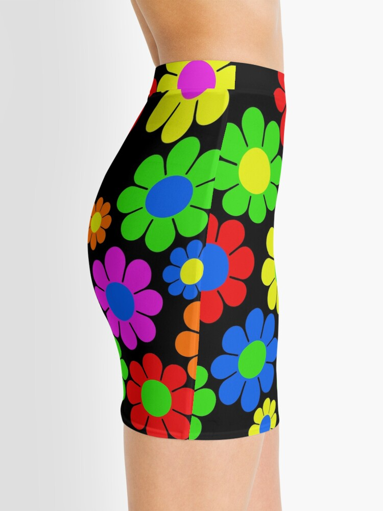 Alternate view of Hippy Flower Daisy Spring Pattern Mini Skirt