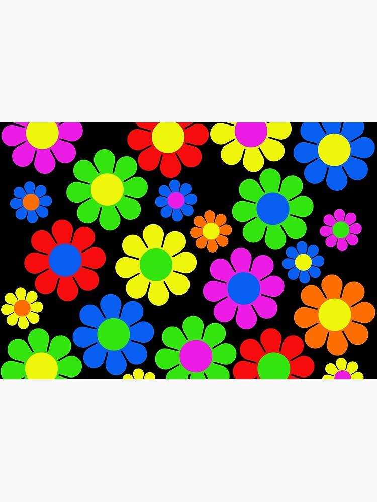 Hippy Flower Daisy Spring Pattern by hilda74