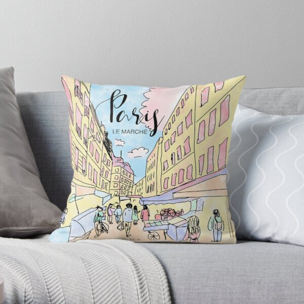 Paris I left by Alice Monber Throw Pillow