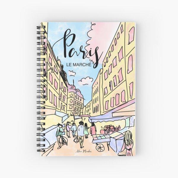 Paris I left by Alice Monber Spiral Notebook