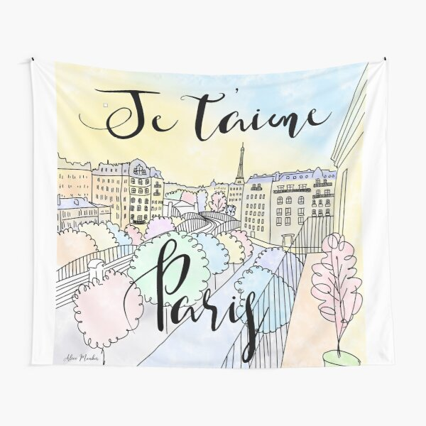 Je t'aime Paris by Alice Monber Tapestry