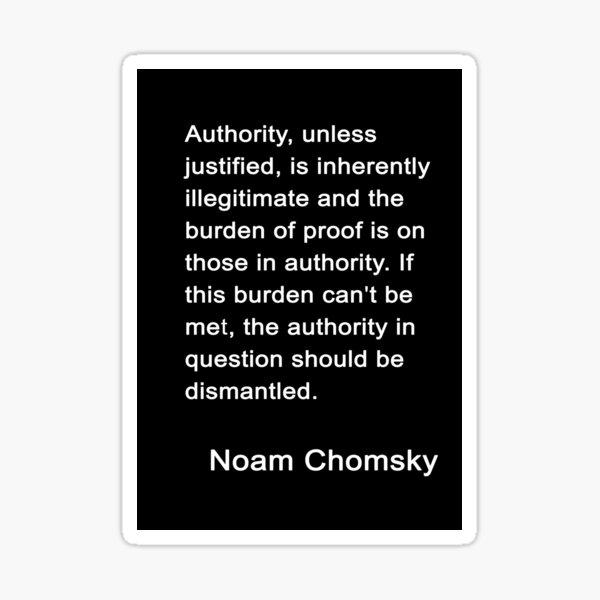 Chomsky On Authority Sticker