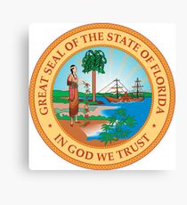 Great Seal of Florida, 1900-1985 Canvas Print
