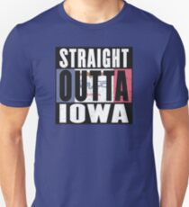 REPRESENT IOWA WITH THIS - STRAIGHT OUTTA IOWA DESIGN Unisex T-Shirt