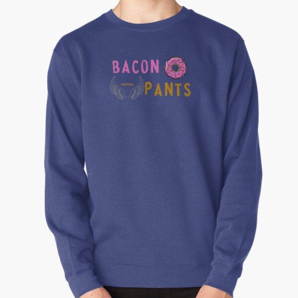Bacon Doughnut and Angel Pants Pullover Sweatshirt