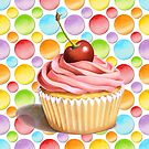 Celebration Cupcake Polka Dots by PatriciaSheaArt