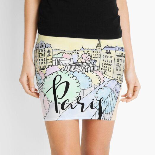 Je t'aime Paris by Alice Monber Mini Skirt