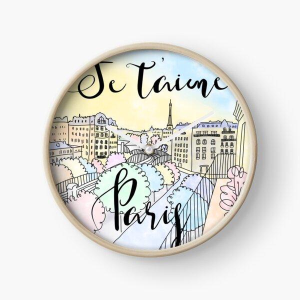 Je t'aime Paris by Alice Monber Clock