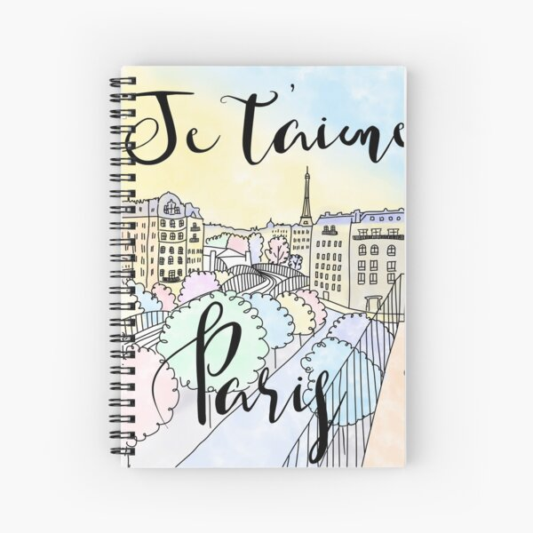 Je t'aime Paris by Alice Monber Spiral Notebook