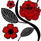 Roses Pattern by pda1986