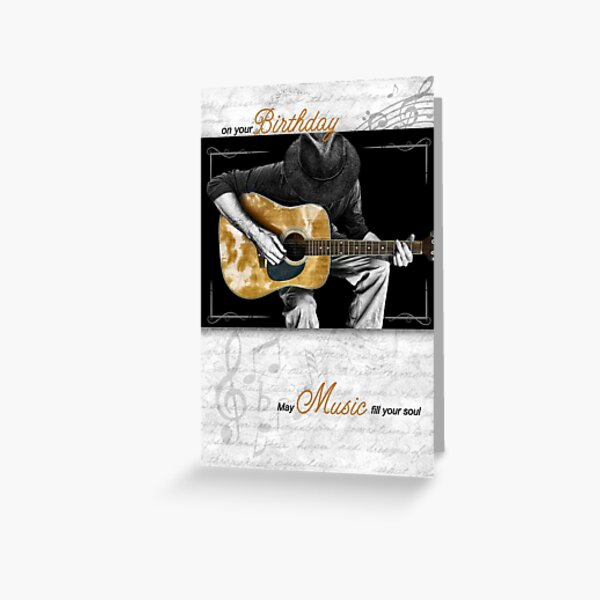 Music Lover's Brithday Classic Guitarist Greeting Card