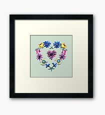 Lovely Flowers Green Framed Print