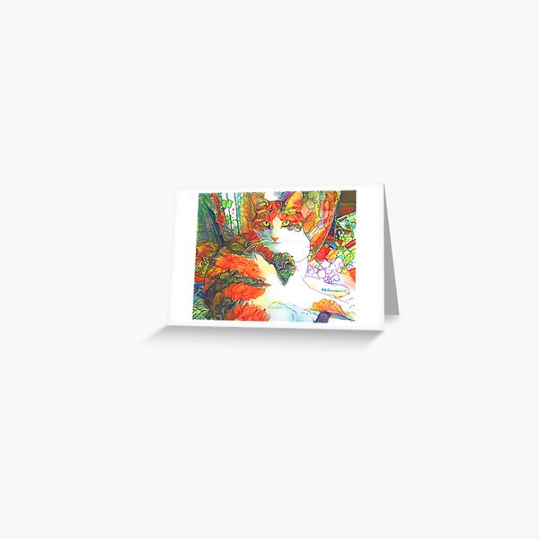 Flower Cat Picture By RD Riccoboni Greeting Card
