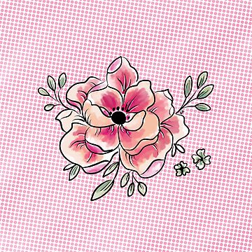 Pink flower pattern by eligart