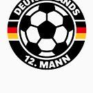 Deutschlands 12. Mann (Fußball / Fussball / Fan / Deutschland) by MrFaulbaum