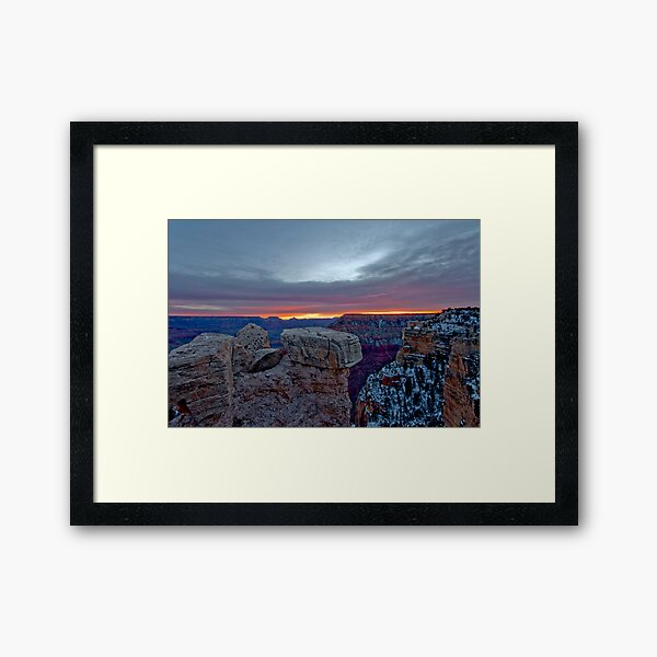 Grand Canyon Grand Sunrise Framed Art Print